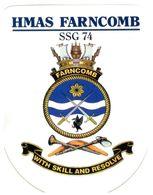 (G 25) Stickers / Autocollan - Australian RAN (Navy) HMAS Farncombe (submarine) + Fly Navy (2 Stickers) - Other