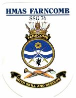 (G 25) Stickers / Autocollan - Australian RAN (Navy) HMAS Melbourne & Farncomb - Other
