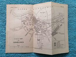Maroc: Carte De 1920 Par Victor Piquet «Ville Et Port De Casablanca». - Carte Geographique