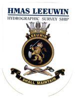 (G 25) Stickers / Autocollant - Australian RAN (Navy) HMAS Leeuwin & Melbourne (2 Stickers) - Other