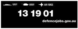 (G 25) Stickers / Autocollant - Australian RAN (Navy) RAAF + Leuwin +  Defence Jobs  (3 Stickers) - Other