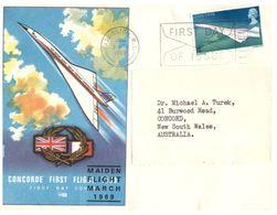 (G 21) FDC / Premier Jour - 1969 - UK - Concorde - Concorde