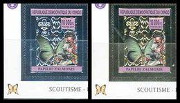 République Démocratique Du Congo - 2741 & 2743 - Scoutisme & Papillons - Argent/Silver & Or/Gold - 2012 - MNH - Democratic Republic Of Congo (1997 - ...)