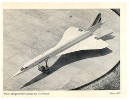 (G 21)  Souvenir - Concorde - Photo Air France - Commercial Aviation