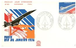 (G 21) FDC / Premier Jour - France - 1976 - Concorde Paris To Rio De Janeiro - Concorde
