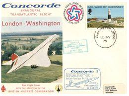 (G 21) FDC / Premier Jour - Guernsey - 1976 - Concorde