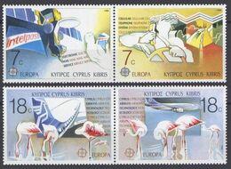 1988Cyprus695-698PaarEuropa CEPT / Satellite - 1988