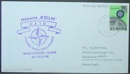 Iceland - Cover To Holland 1968 Europa 8K Solo Militaria NATO Koln - 1944-... Republic