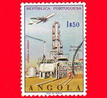 ANGOLA - Usato - 1965 - Raffineria Di Petrolio - Industria Petrolchimica - Oil Refinery - 1 $ 50 P.aerea - Angola
