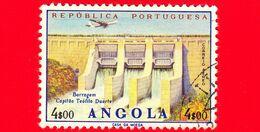 ANGOLA - Usato - 1965 - Diga - Capitano Teofilo Duarte Dam - 4 $ 00 P. Aerea - Angola