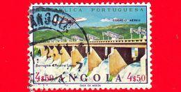 ANGOLA - Usato - 1965 - Opere Idriche - Diga Di Craveiro Lopes - Dam - 4 $ 50 - Posta Aerea - Angola