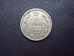 RUSSIE = 1 PIECE  DE 15 KOPEKS  DE 1914  EN ARGENT - Rusland