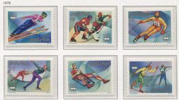 Poland 1976 Mi 2424-29 Winter Olympic Games In Innsbruck, Ski, Snow, Sport, Full Set MNH** - Inverno1976: Innsbruck