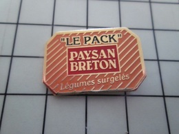 1820 Pin's Pins / Beau Et Rare / THEME : ALIMENTATION / LE PACK PAYSAN BRETON LEGUMES SURGELES - Lebensmittel