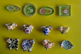 Fève - Série Complète  2009 - Vaisselle Belle Des Champs - Décor Vache Fleur - Animals