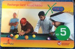 KUWAIT - 5 KD - Xpress Wataniya Telecom Billiard - Kuwait