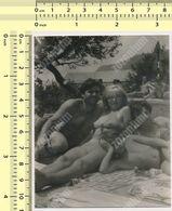 REAL PHOTO Beach Family Swimsuit Women, Man Kid Boy Maillot De Bain Femmes Homme Enfant Plage ORIGINAL SNAPSHOT - Anonyme Personen