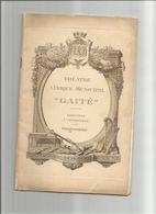 PROGRAMME ANCIEN THEATRE LA GAITE OPERA CLOCHES DE CORNEVILLE - Programmes