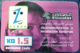 KUWAIT -1. 5 KD - Eezee Mtc  Net Girl - Kuwait