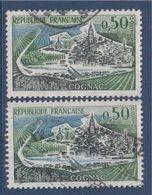 Cognac Avec état Différent Sur Les Péniches  3 Ou 0 Sur Timbre Du Bas N°1314 Et 1314b Oblitérés - Variétés: 1960-69 Oblitérés
