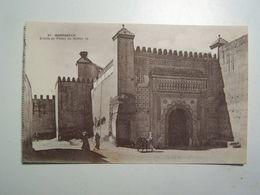 DAFRIQUED MAROC  MARRAKECH  Entrée Du Palais Du Sultan - Marrakech