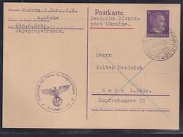 Dt. Besetzung 2. Weltkrieg, Ukraine, Mi.-Nr. P 2 Gelaufen - Occupation 1938-45