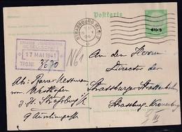Dt. Besetzung 2. Weltkrieg, Elsaß, Ganzsache Mi.-Nr. P 1 Gelaufen - Occupation 1938-45