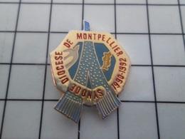 1820 Pin's Pins / Beau Et Rare / THEME : AUTRES / SYNODE DIOCESE DE MONTPELLIER - Associations