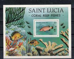 SAINTE LUCIE  Timbre Neuf ** De 1983  ( Ref 7005 ) Animaux Marins - Poissons  - - St.Lucia (1979-...)