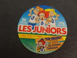 Etiquette De Fromage Fondu Les Juniors Top Secret Les Animaux Champions - Cheese