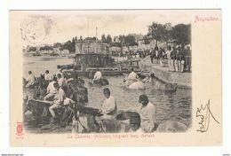 FRANCE - ANGOULEME:  ARTILLEURS  BAIGNANT  LEURS  CHEVAUX  -  POUR  PAYS-BAS  -  FP - Guerre 1914-18