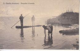 ITALIA - S. GIUSTA (oristano) - Pescatori D'arselle, Animata, Viag.1921 - 2020-C-79 - Oristano