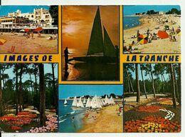 85  LA TRANCHE SUR MER  Multivues La Plage Les Floralies Les Voiliers  Multi Vues  Cpm Voyagée En 1979 - La Tranche Sur Mer