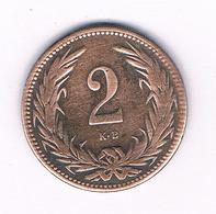 2 FILLER 1897  HONGARIJE /6061 - Hungría