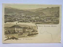 CPA SUISSE - Hôtel Suisse OLTEN  - D. Schaler, Propriétaire - SO Solothurn