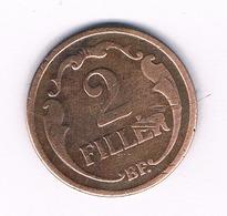2 FILLER 1928  HONGARIJE /6063/ - Hungría