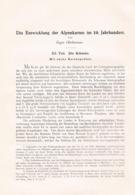 657 Oberhummer Entwicklung Alpenkarten Schweiz Artikel Von 1904 !! - Wereldkaarten