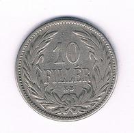 10 FILLER 1894  HONGARIJE /6067/ - Hungría