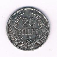 20 FILLER 1894  HONGARIJE /6068/ - Hungría