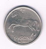 1 KRONE  1961  NOORWEGEN /6069/ - Norwegen