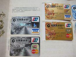 China Construction Bank Commemorative Album, With 20 Pcs Credit/ATM Cards.all With Account Number 1616,see Description - Cartes De Crédit (expiration Min. 10 Ans)
