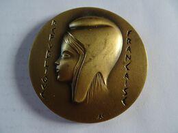 Médaille En Bronze 65 Mm 145 G Récompense De La Ville De JALOGNES 18 Graveur PICHARD   TBE - Francia