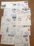 L2 TAAF Lot De 10 Lettres De Missions Marion Dufresne Fdc Et Autres Années 1980/2000 - FDC