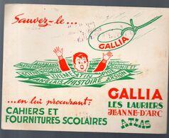 Buvard CAHIERS ET FOURNITURES SCOLAIRES  GALLIA (M0565) - Cartoleria
