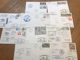 L3 TAAF Lot De 10 Lettres De Missions Marion Dufresne Fdc Et Autres Années 1980/2000 - FDC