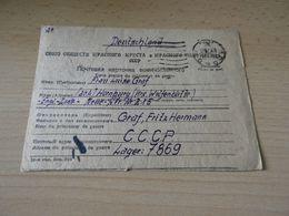 Kriegsgefanngenkarte  Von Rußland Nach Deutschland Geburtstagskarte  21.10.1948 - Sonstige