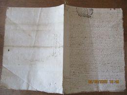 30 MAI 1713 SIEUR DE MONTVOTY CONTRE LE SIEUR CHAMBELLAN DE DILLIG DE GONFRE CACHETS GENERALITE DE ROUEN SEIZE DENIER - Manuskripte