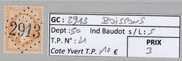 GC 2913 Poissons ( Dept 50 ) S / N° 21 - 1849-1876: Classic Period