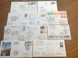 L5 TAAF Lot De 10 Lettres De Missions Marion Dufresne Fdc Et Autres Années 1980/2000 - FDC
