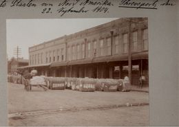 ! 7 Original Fotos Auf Hartpappe, Old Photos, Shreveport, Louisiana, Red River, Cotton, Tramway, USA, 1904 - Shreveport